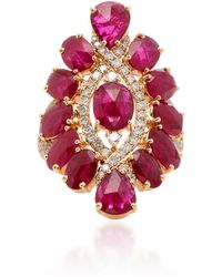 Sutra - Ruby And Diamonds Ring - Lyst