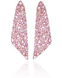 Sutra - Pink Sapphire Mosaic Earrings - Lyst