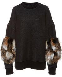 Sally Lapointe - Cotton Jersey Crewneck Sweatshirt - Lyst