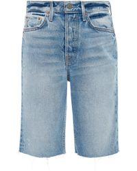 GRLFRND - Beverly Denim Bermuda Shorts - Lyst