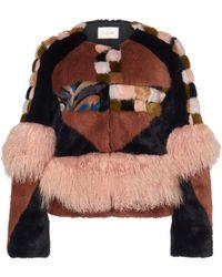 Alexis - Kotto Mongolian Fur Coat - Lyst