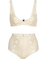 Lisa Marie Fernandez - Magdalena Button-detailed High-waisted Bikini - Lyst
