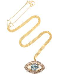 Renee Lewis - Third Eye Shake 18k Gold Diamond Necklace - Lyst