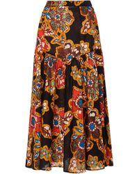 Warm - Path Floral Skirt - Lyst