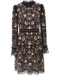 Needle & Thread Marella Floral-embroidered Mini Dress