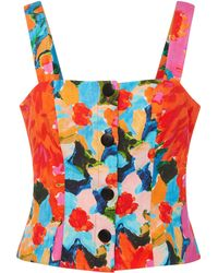 Mara Hoffman - Malin Floral-print Bustier Top - Lyst