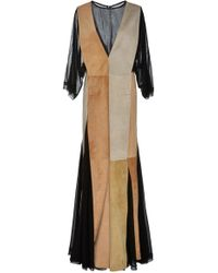 Loewe - Paneled Suede Dress - Lyst