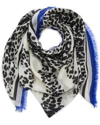 Givenchy - Fringed Leopard-print Cashmere Scarf - Lyst