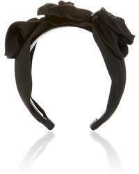 Jennifer Behr - Rosette Silk Headband - Lyst