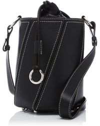 Proenza Schouler - Hex Small Smooth Leather Drawstring Bucket Bag - Lyst