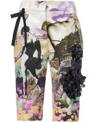 Prada - Printed Twill Bermuda Shorts - Lyst