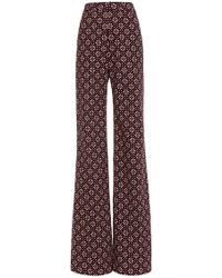 Holly Fulton - Printed Bard Flared Trousers - Lyst