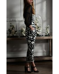 Needle & Thread - Black Chalk Floral Lace Dungarees - Lyst