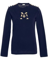 Alexis Mabille - Embroidered Epaulette T-shirt - Lyst