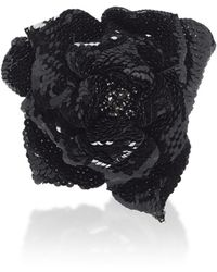 Balmain - Sequins Flower Brooch - Lyst