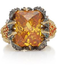 Anabela Chan - Tangerine 18k Gold Vermeil, Garnet And Diamond Ring - Lyst
