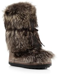 Bogner - Fluffy Brown Boot - Lyst