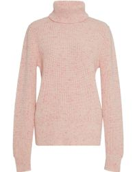 Orley - Cotton Candy Ribbed Cashmere Turtleneck - Lyst