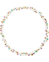 Mallary Marks - Circus Briolette 18k Gold Multi-stone Necklace - Lyst