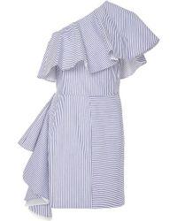 Viva Aviva - Takeo One Shoulder Shirting Dress - Lyst