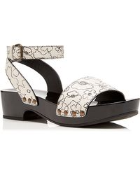 Tomas Maier - Floral Leather Wedge - Lyst