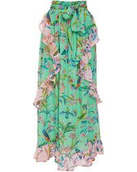 Banjanan - Tricia Print Silk Chiffon Maxi Skirt - Lyst