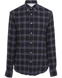 Officine Generale - Japanese Dark Plaid Button-down Shirt - Lyst