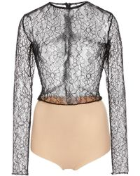 Houghton - Dickenson Lace Bodysuit - Lyst