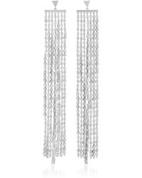Fallon - Marquis Waterfall Sliver Earrings - Lyst