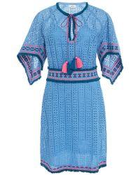 Talitha - Eyelet Pointed Sleeve Dress - Lyst