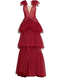 J. Mendel - Embroidered Tulle Gown - Lyst