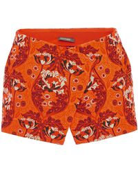 Zac Posen - Bellflower Jacquard Mini Shorts - Lyst