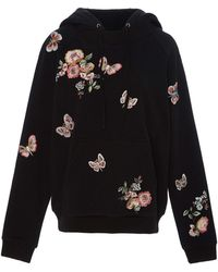 Needle & Thread - Butterfly Rose Embroidered Sweatshirt - Lyst