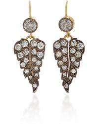 Sylva & Cie - Eve 18k Gold And Diamond Earrings - Lyst