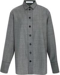 Victoria Beckham - Oversized Wool-twill Shirt - Lyst