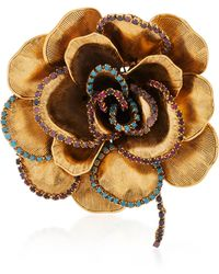 Erickson Beamon - Crystal Flower Brooch - Lyst