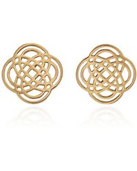 Ginette NY - Purity 18k Rose Gold Stud Earrings - Lyst