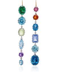 Renee Lewis - 18k White Multi-stone Earrings - Lyst