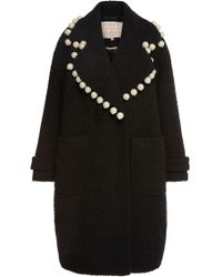 Maria Lucia Hohan - Dustine Pearl Embellished Oversized Coat - Lyst
