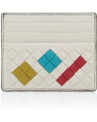 Bottega Veneta - Artsy Leather Card Holder - Lyst
