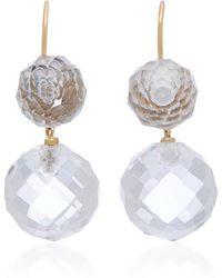 Renee Lewis - 18k Gold Rock Quartz Earrings - Lyst