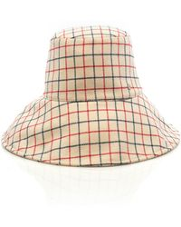 Maison Michel - Isabella Checked Wool Bucket Hat - Lyst