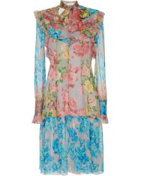 Blumarine - Floral Print Midi Dress - Lyst