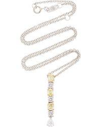 Bayco Fancy Yellow Diamond & White Diamond Necklace