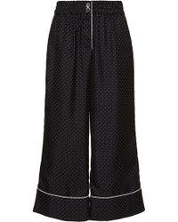 Erika Cavallini Semi Couture - Pierrick Polka Dot Pajama Trousers - Lyst