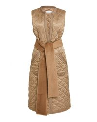 Marina Moscone - Quilted Gilet Vest - Lyst