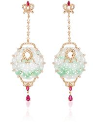 Wendy Yue - Carved Jade Earrings - Lyst