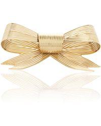 Rodarte - Gold Large Ribbed Bow Barrette - Lyst