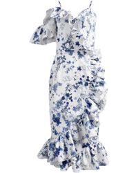 ANOUKI - Asymmetric Ruffle Dress - Lyst