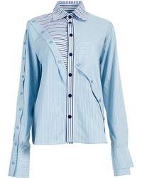 ANOUKI - Striped Panelled Shirt - Lyst